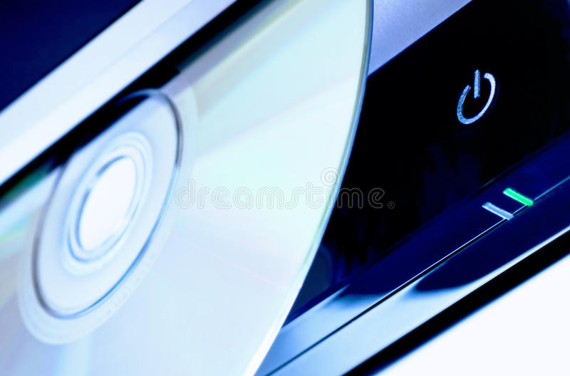 Hi-end DVD player stock image