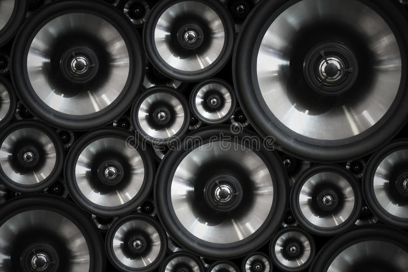 Hi fi audio stereo system sound speakers background royalty free stock photo