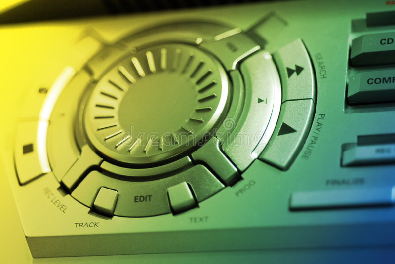 Download Hi-Fi Control stock photo. Image of surface, control, blue - 785494