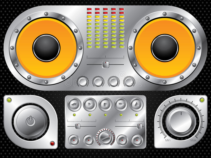 Download Hi fi control set stock vector. Image of loudspeaker - 17742996
