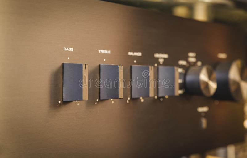 Hi fi . Midrange hifi system with CD player and amplifier, Cambridge Audio 651A and 351C stock photography