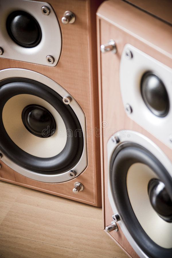 Hi-Fi Speakers royalty free stock photos