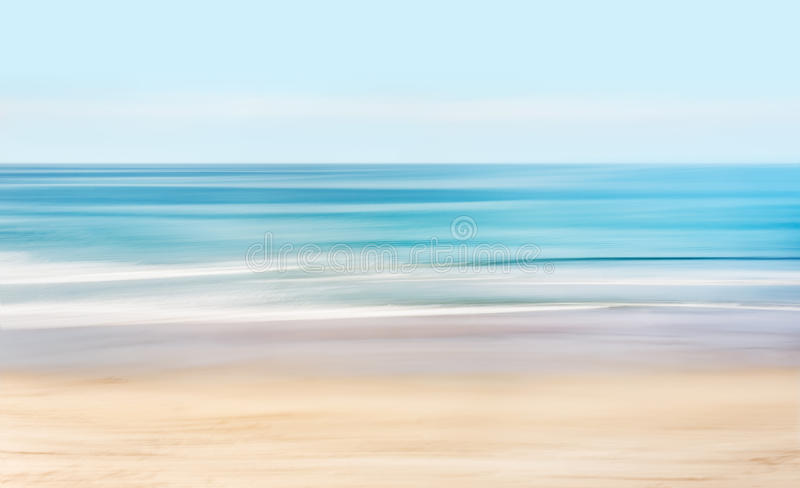 Hi-Key Abstract Seascape. A high-key, abstract seascape of the Pacific ocean off the coast of California stock photos
