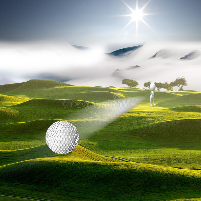 Hi , Let's golf royalty free stock photography