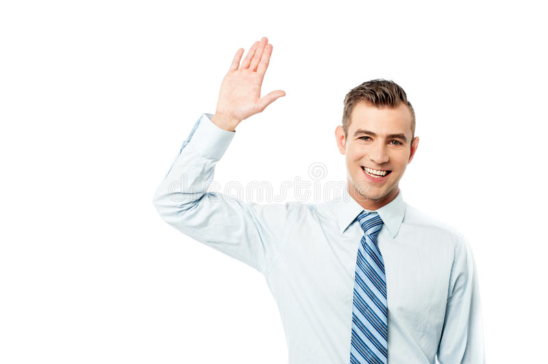 Hi mate, how are you ? stock photo. Image of wave, formal ...