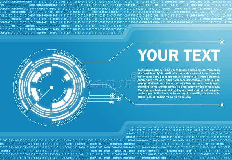 Hi-tech abstracte achtergrond vector illustratie