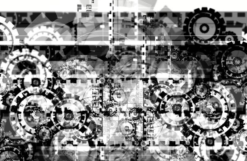 Download Hi Tech Background stock illustration. Image of wheels - 24807208