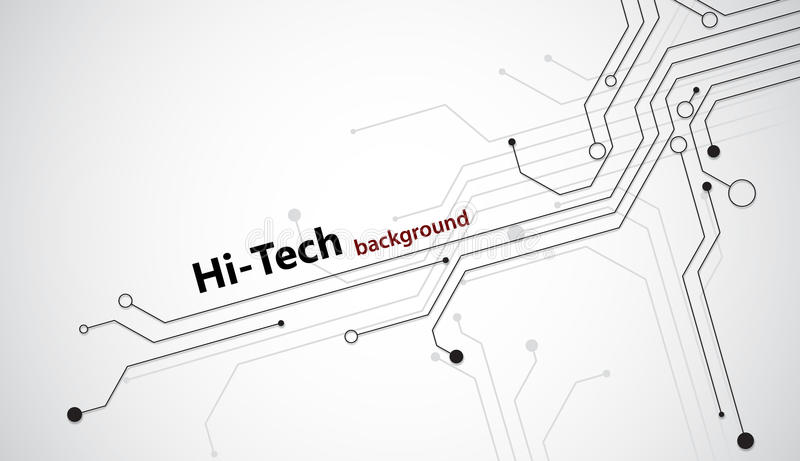 Hi-tech background. Hi tech background with black semiconductor tracks. EPS10 vector illustration
