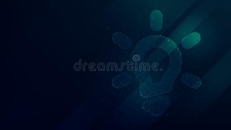 Hi-tech background with idea icon, creative concept innovation royalty free illustration