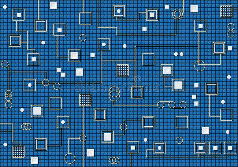 Hi-tech background. Theme of nanotechnology.