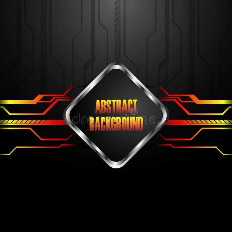 Download Hi-tech black background stock vector. Image of illustration - 22674643