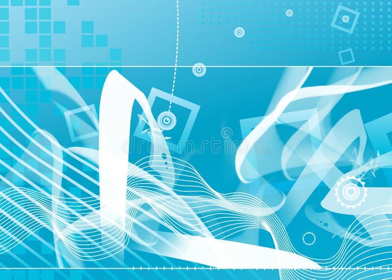 Hi tech blue background. royalty free illustration