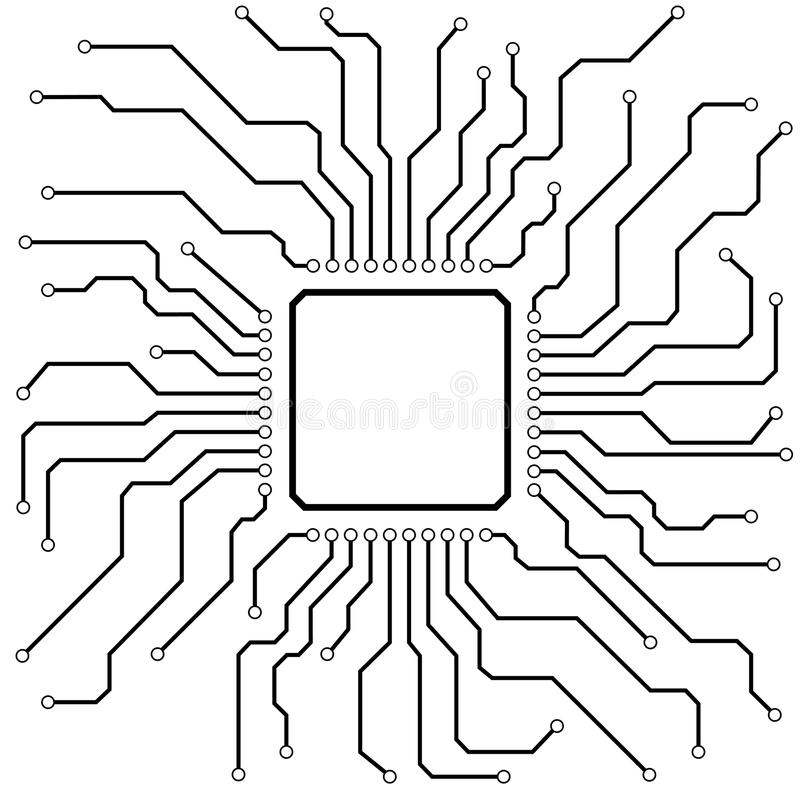 Hi-Tech Circuit Board stock illustration