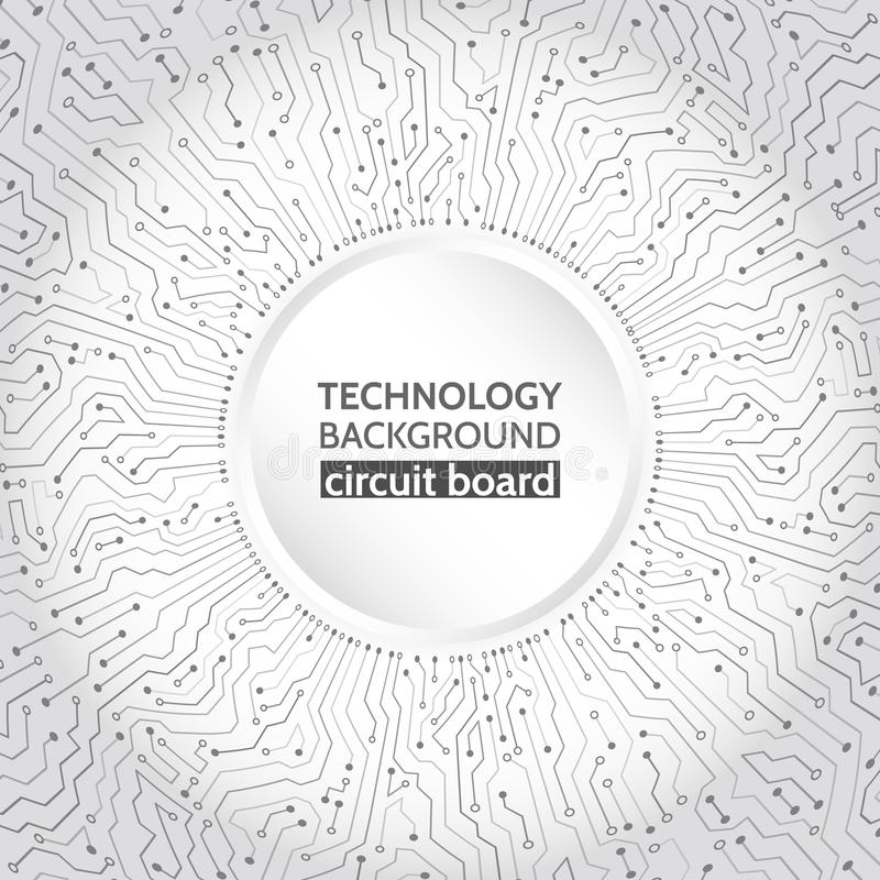 Hi-tech computer technology on the grey background. vector illustration