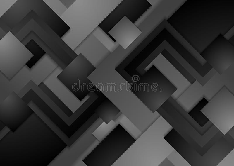 Hi-tech dark grey corporate abstract background royalty free illustration