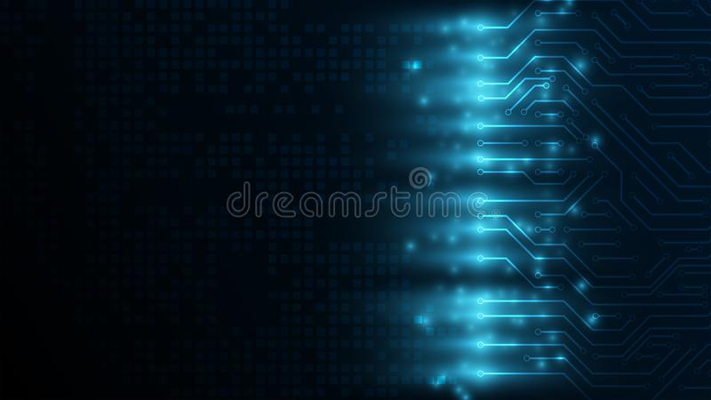 Hi-tech digital communication concept on the dark blue background fo inforgraphic.Abstract digital background vector illustration