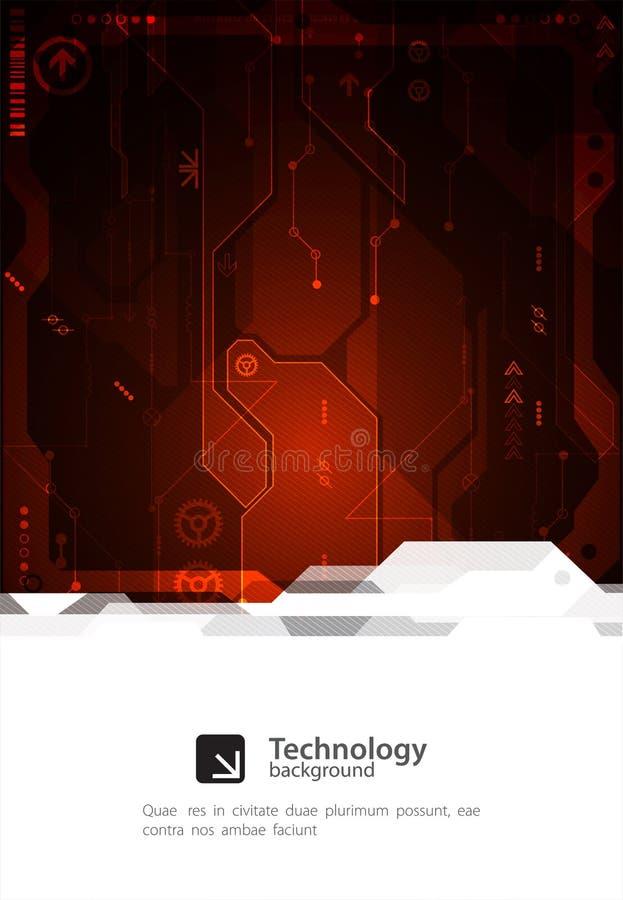 Hi-tech digital technology and engineering background. Vector vector illustration