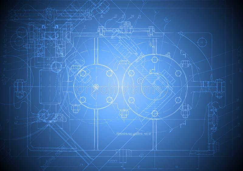 Hi-tech engineering drawing stock photography