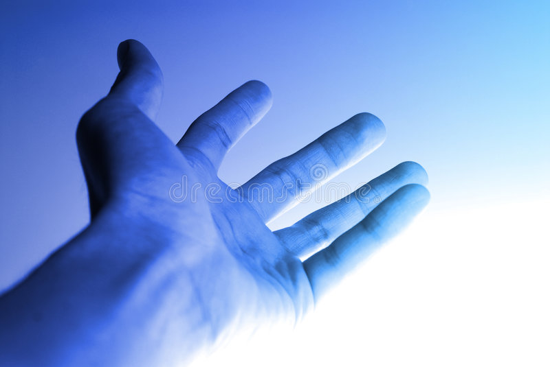 Hi-Tech Hand Background stock photo