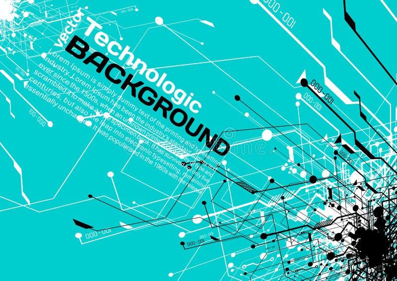 hi-tech technologie absract achtergrond cyberpunk stijl sc.i-FI vector illustratie