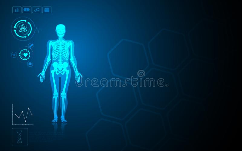 Hi tech virtual dashboard medical health care concept template. Eps 10 royalty free illustration