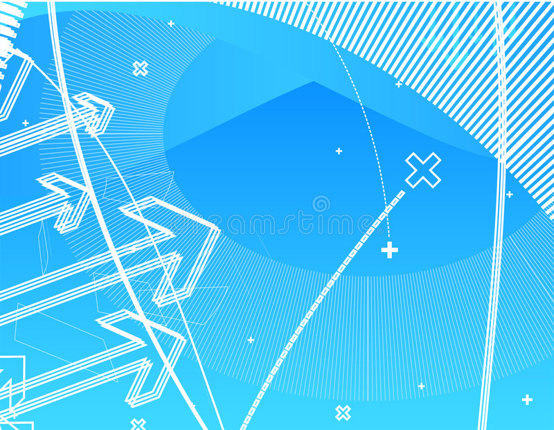 Hi-tech wallpaper. Abstract design, blue wallpaper background for many purposes. See many in my portfolio vector illustration