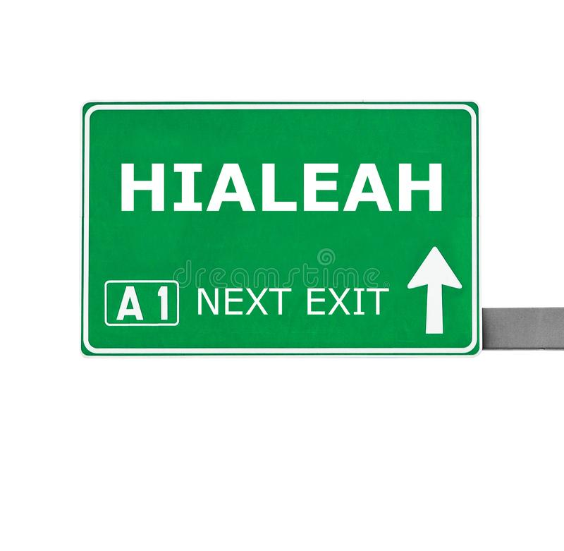 HIALEAH road sign isolated on white royalty free stock images