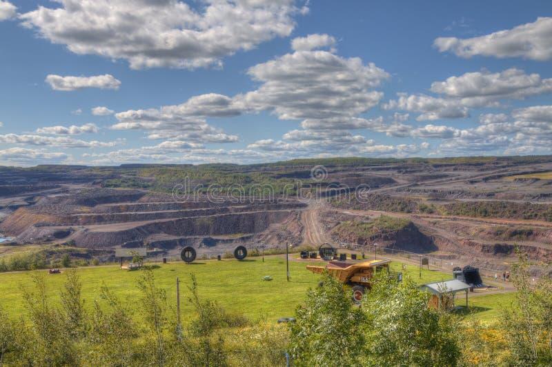 Hibbing, Minnesota Open Pit Mine. Hibbing, Minnesota has one of the largest open pit mines royalty free stock image