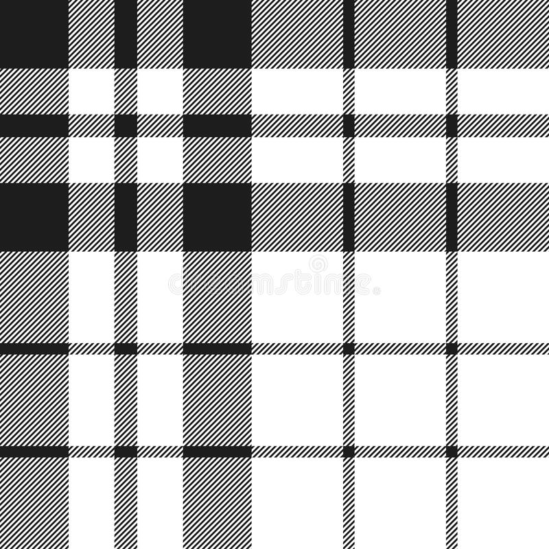 Hibernian fc tartan check plaid black and white pattern seamless royalty free illustration