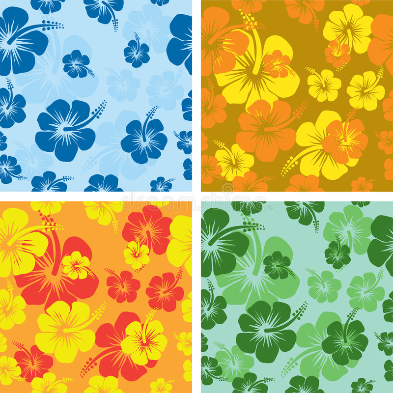 hibiscus λουλουδιών ανασκόπησης διανυσματική απεικόνιση