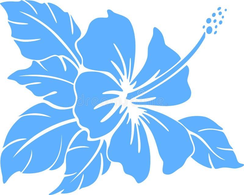 Hibiscus λουλούδι. Σκιαγραφία απεικόνιση αποθεμάτων