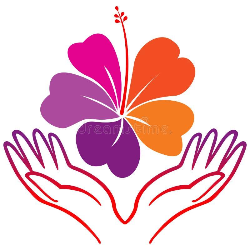 Hibiscus λουλούδι διανυσματική απεικόνιση