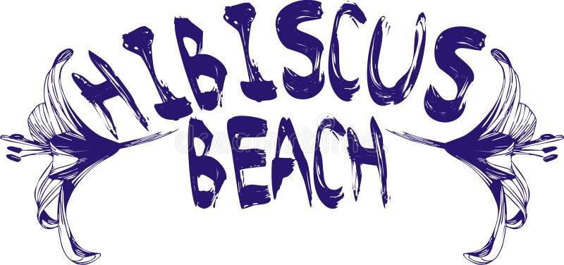 hibiscus пляжа иллюстрация штока