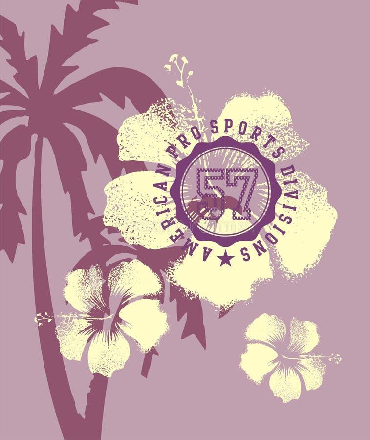 Hibiscus branco ilustração do vetor