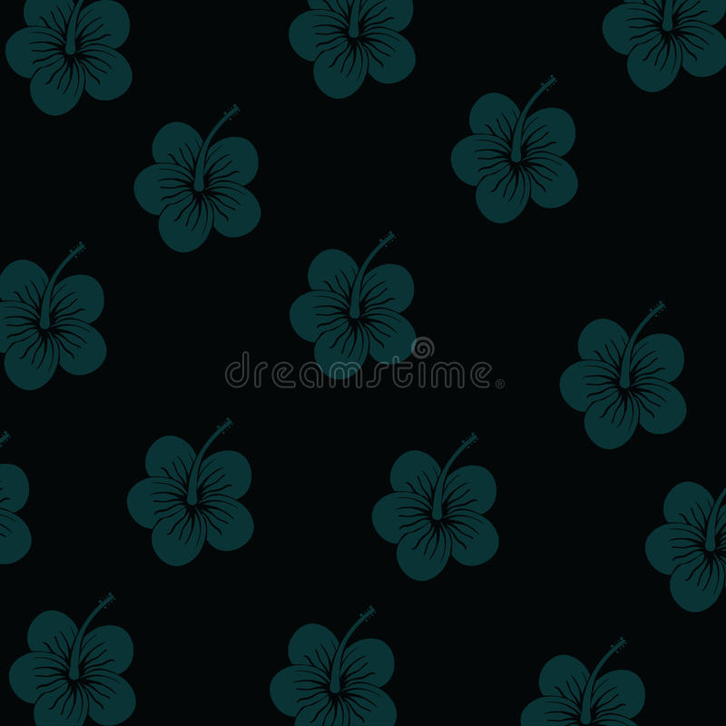 Hibiscus flowers pattern vector illustration