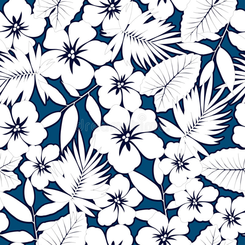 Hibiscus havaiano branco. ilustração stock