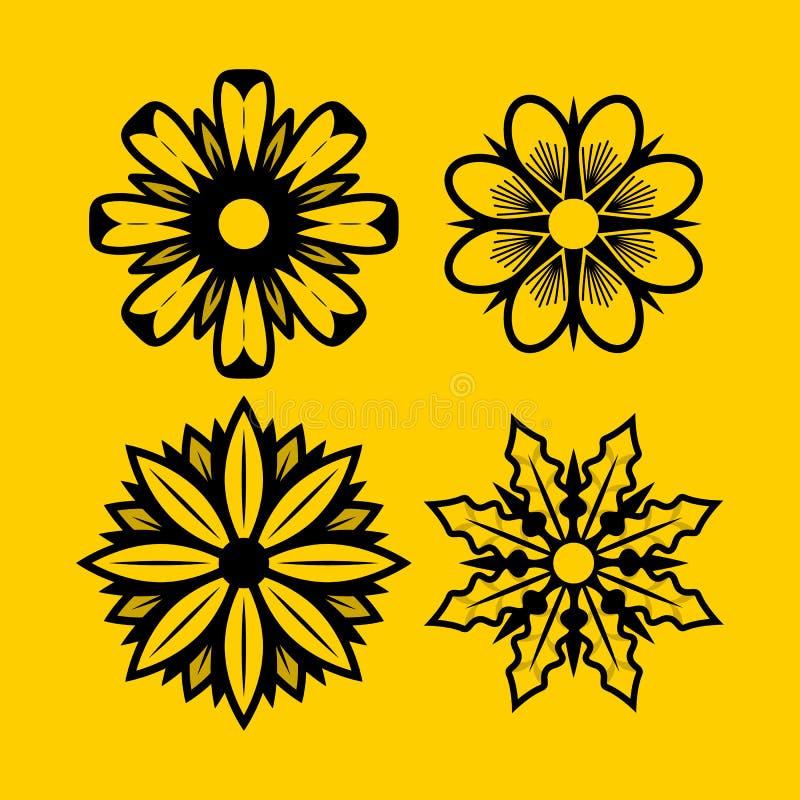 Download Hibiscus, Madeliefjes, Jasmijn, Orchidee, De Stevige Ontwerpen Van Het Bloemenpak Vector Illustratie - Illustratie bestaande uit hibiscus, kaart: 114227449
