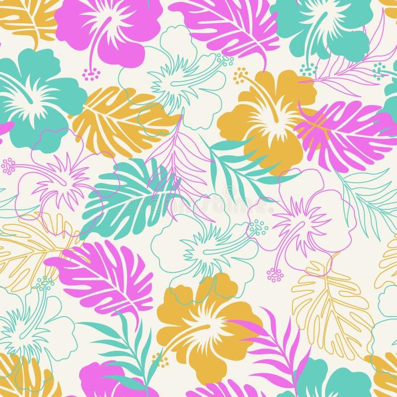 Hibiscus mit Blumen