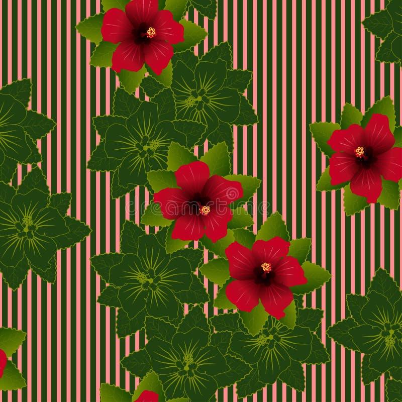 Hibiscus-Muster stock abbildung