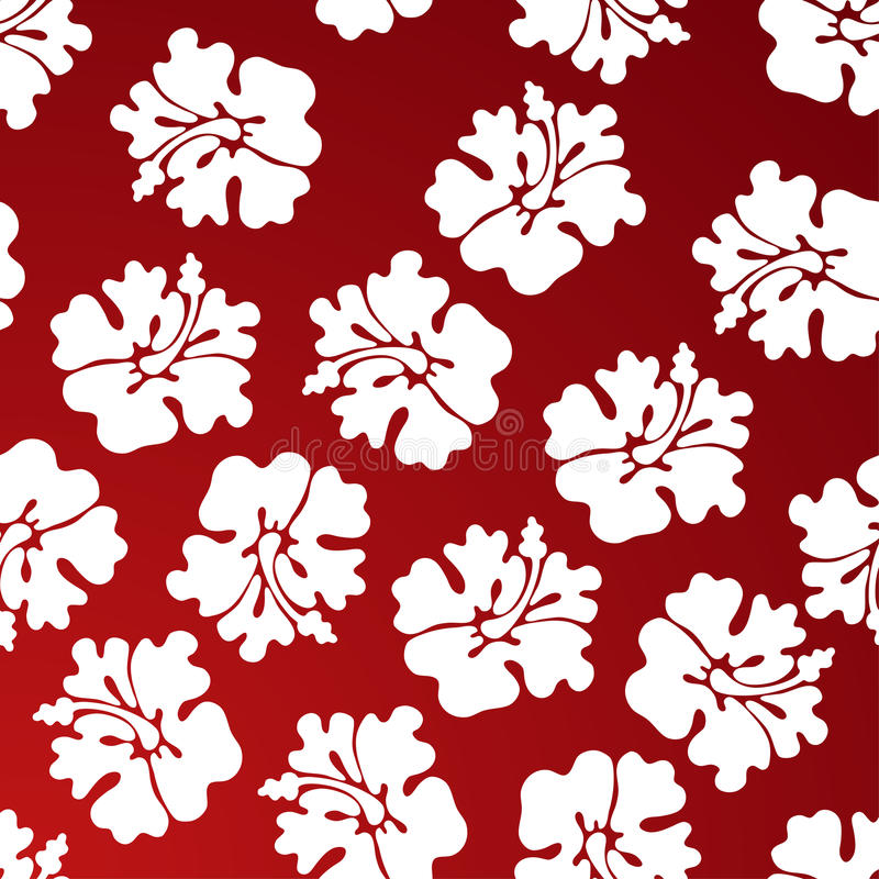Hibiscus Pattern - Red