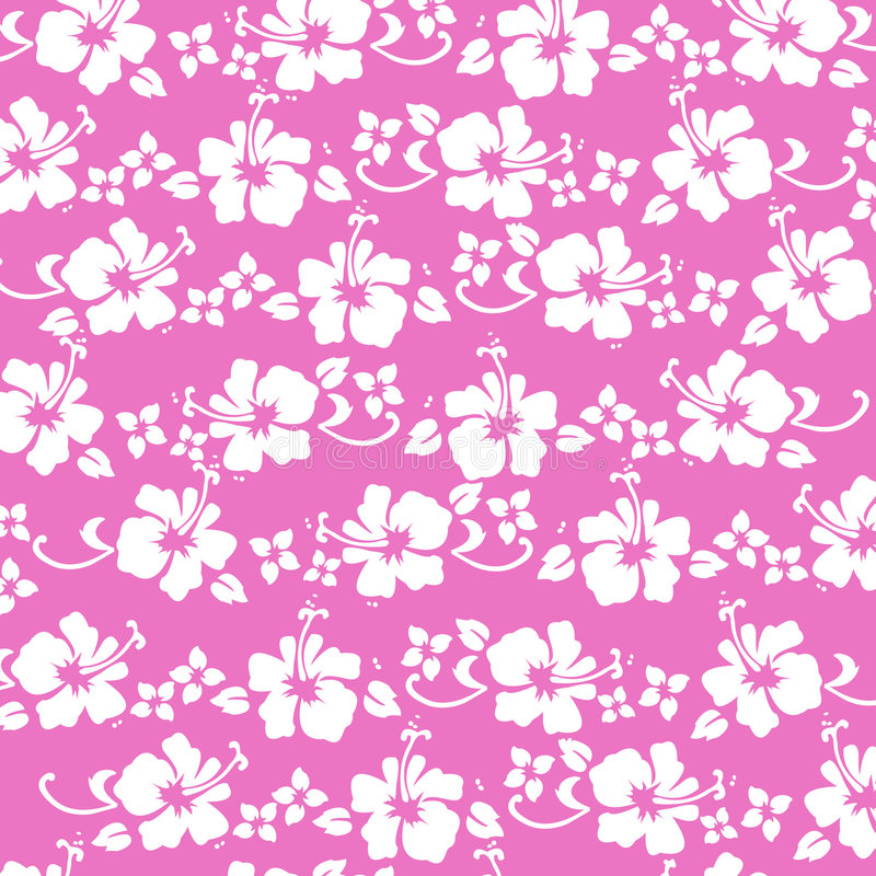 Hibiscus pattren hot pink royalty free stock image