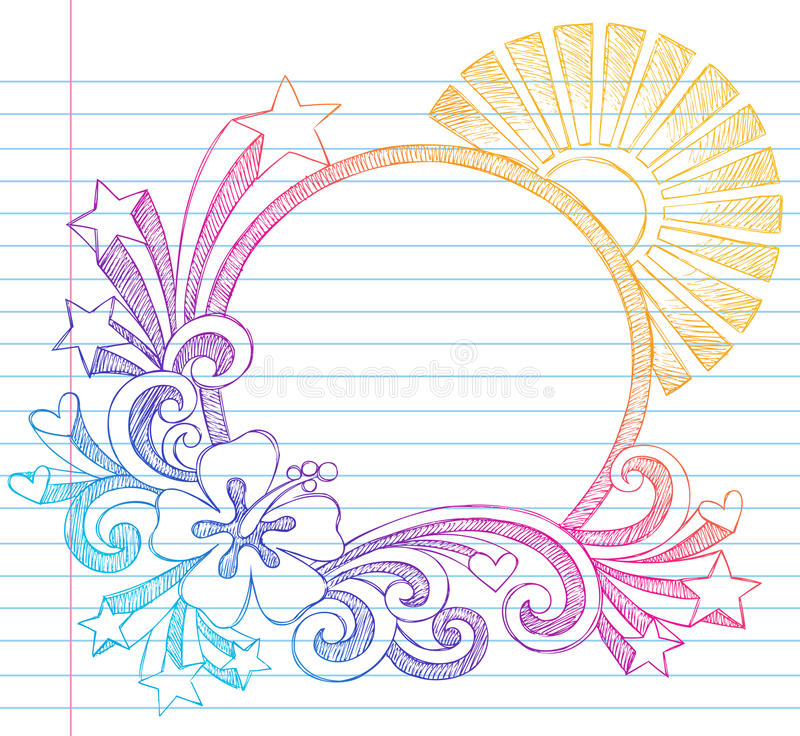 Download Hibiscus Summer Beach Vector Sketchy Doodle Royalty Free Stock Image - Image: 22959626