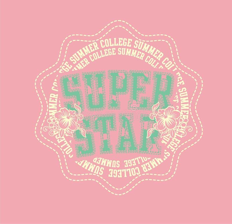 hibiscus super da estrela ilustração royalty free
