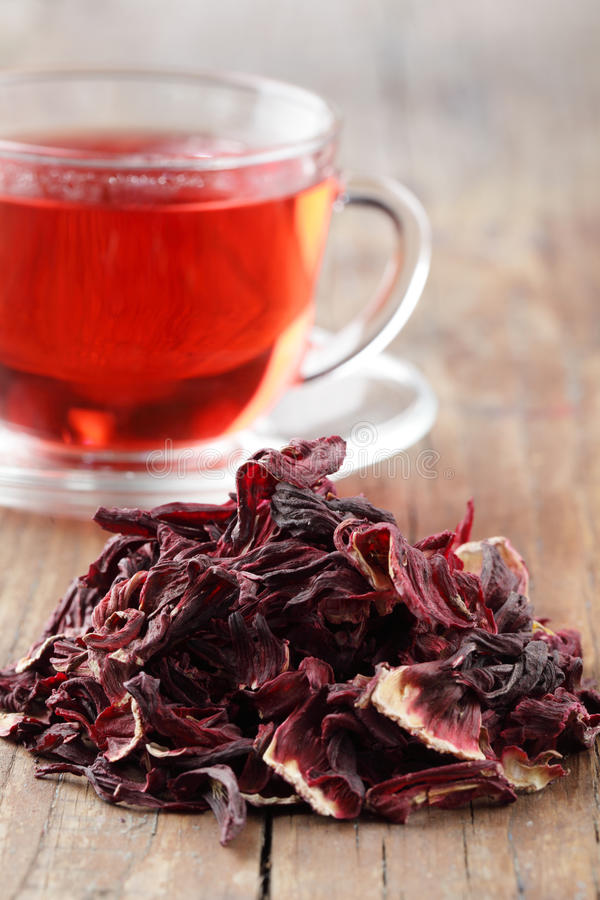 Download Hibiscus tea stock image. Image of pink, karkady, drink - 14073907