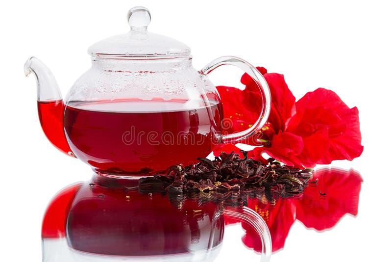 Download Hibiscus tea stock image. Image of teapot, petal, flower - 25452875
