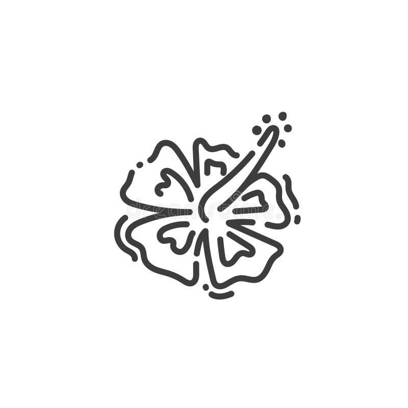 Hibiscuse blühen flache Entwurfsikone von Ägypten, Konzeptschattenbild vektor abbildung