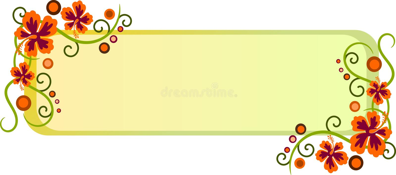 Hibiscusweb-Vorsatz stock abbildung