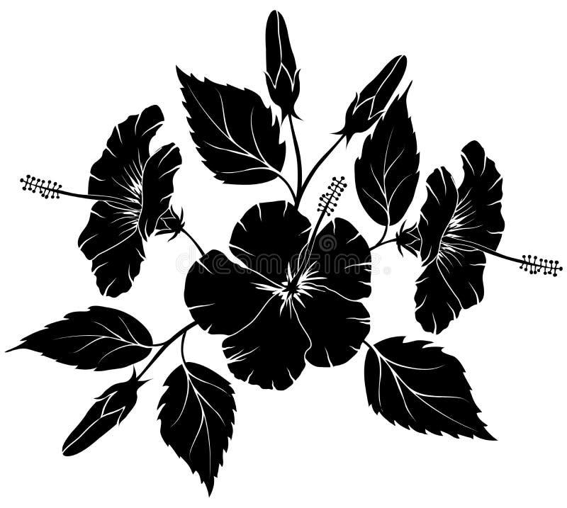 hibiskusillustrationvektor royaltyfri illustrationer