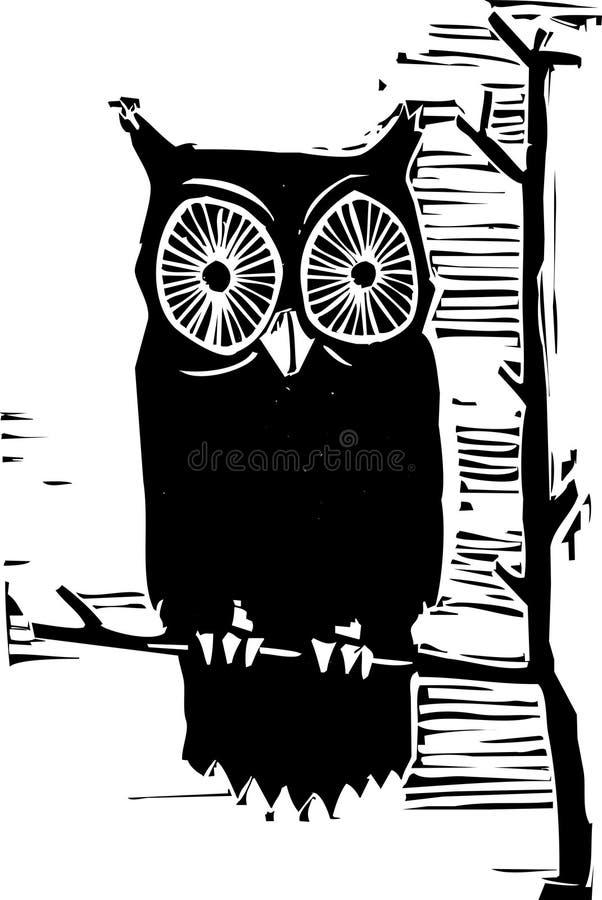 Hibou illustration stock