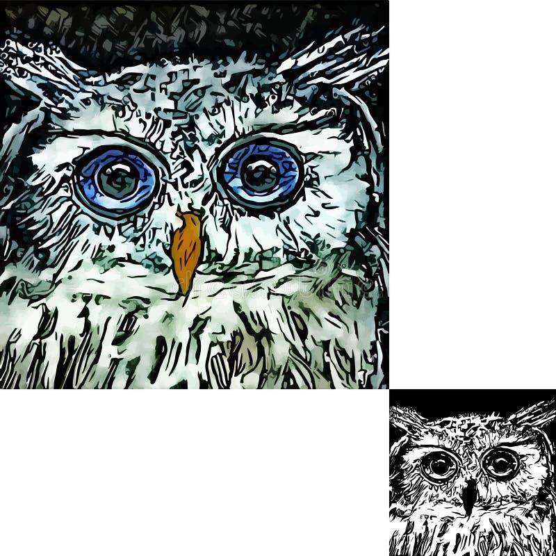 Hibou illustration de vecteur